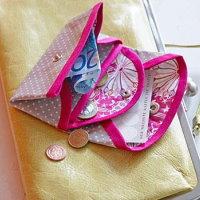 kleines Portemonnaie Wachstuch selbst selber nähen anleitung mit kostenlosem schnittmuster