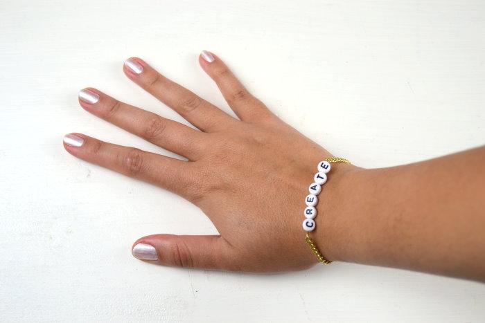 Diy Armband Mit Namen Wort Buchstaben Perlen Freundschaftsarmband  Namensarmband Selbst Selber Machen Anleitung Idee Ideen Geschenk
