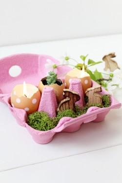 Deko im Eierkarton