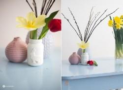 Hasen-Vase