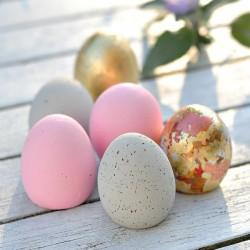 Deko-Eier aus Beton