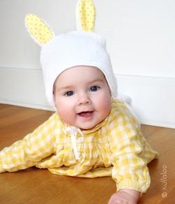 Hasenmütze für Babies mit kostenlosem Schnittmuster
