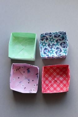 Origami Schalen als Osternest