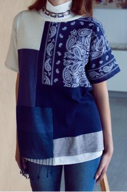patchwork t-shirt shirt stoffreste top oberteil bluse diy mode nähen schnittmuster kostenlos freebook einfach anleitung für anfänger diymode für frauen erwachsene nähblog auf deutsch sommer