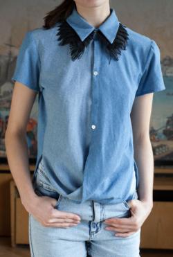 jeanshemd hemd oberteil jeans bluse diy mode nähen schnittmuster kostenlos freebook einfach anleitung für anfänger diymode für frauen erwachsene kleidung auf deutsch sommer ideen