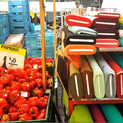 Stoffmarkt am Maybachufer Türken Markt Stoff kaufen Berlin Neukölln 1