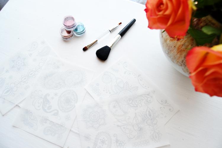 Glitza Fashion Tattoos Oriental DIY Mode Nähmaschine pimpen verschönern