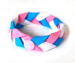 Flechtarmband aus Schrägband