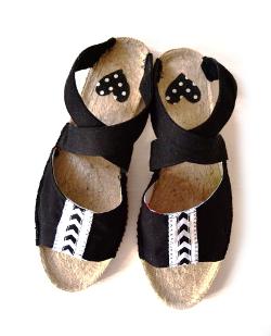 Sandalen mit Espandrilles Sohlen nähen ideen geschenke selbst selber machen für anfänger lernen einfach
