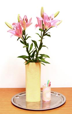 Upcycling Vase Stoffrest Stiftehalter aus Müll Plastik Marmeladenglas nähen ideen geschenke selbst selber machen für anfänger lernen einfach