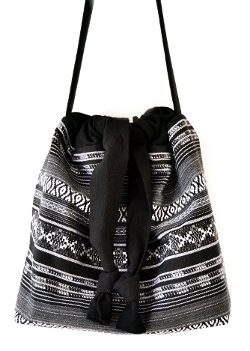 Bucket Bag nähen DIY MODE Schnittmuster PDF zum Runterladen - Beuteltasche Tasche aus Stoff 1
