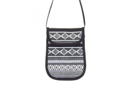 Mini-Handtasche mit Schnittmuster nähen. Kleine Tasche / Täschchen / Brustbeutel selbst selber machen DIY MODE