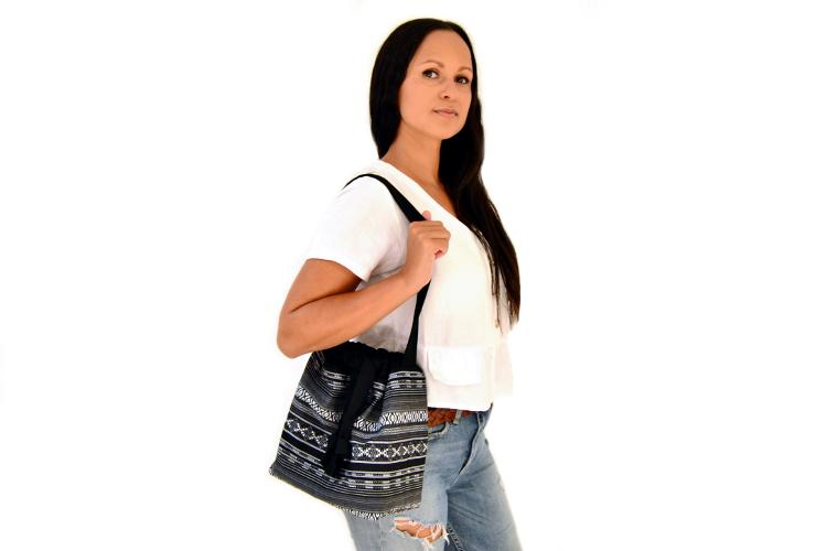 Bucket Bag nähen DIY MODE Schnittmuster PDF zum Runterladen - Beuteltasche Tasche aus Stoff