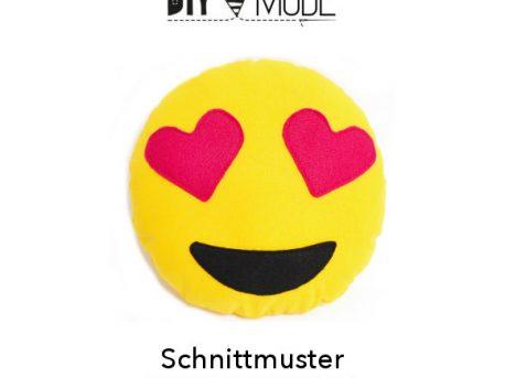 Emoji Kissen Herzaugen Vorlage Freebie