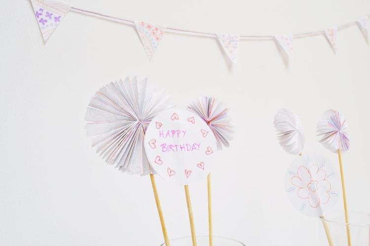 Party Deko DIY Ideen aus Papier