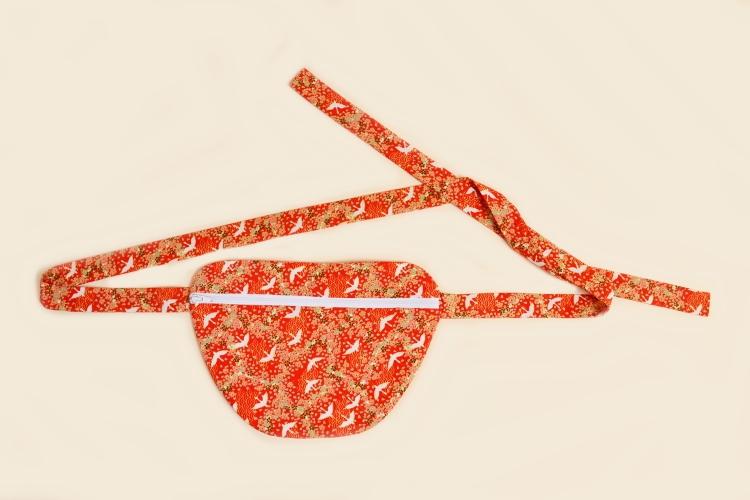 DIY MODE flache einfache Hip Bag Bauchtasche Hüfttasche Gürteltasche nähen selber selbst machen 1