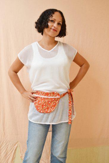 DIY MODE flache einfache Hip Bag Bauchtasche Hüfttasche Gürteltasche nähen selber selbst machen