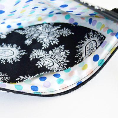 Halbmond Tasche nähen Schnittmuster DIY MODE kleine Handtasche selber machen runde Moonbag