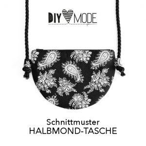 Halbmond-Tasche nähen Tasche aus Kork selber machen