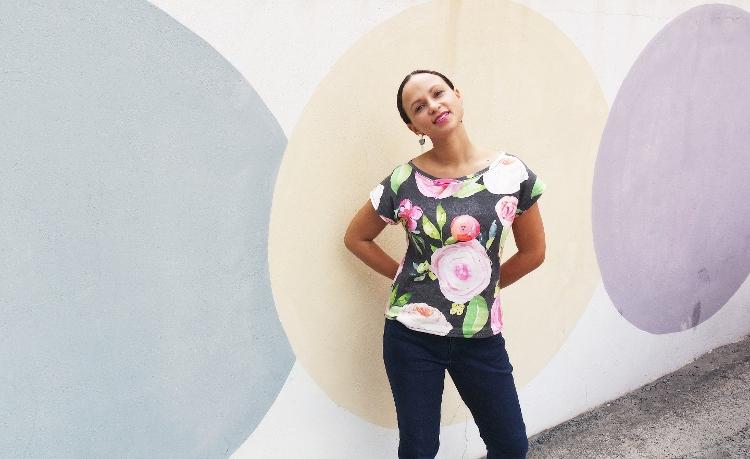 Kimono Tee nähen deutsche Anleitung Schnittmuster Damen Oberteil T-Shirt kostenlos 2