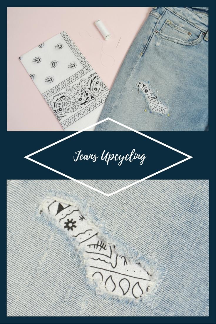 jeans, loch stopfen, hose, nähen, upcycling, ideen, modern, mode, diy, anleitung, refashion, fashion, blog, kostenlos, ebook,