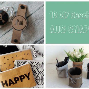 10 Näh-Ideen für Geschenke aus SnapPap