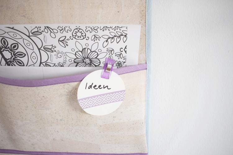 Hängeutensilo nähen Wandutensilo Utensilo Organizer zum Aufhängen für die Wand selber machen DIY MODE