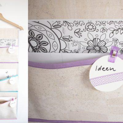 Hängeutensilo nähen Wandutensilo Utensilo Organizer zum Aufhängen für die Wand selber machen DIY MODE 8
