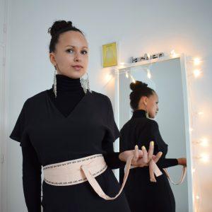 Wickelgürtel nähen mit Schnittmuster diymode Nubia diy mode Bindegürtel Stoffgürtel Nähidee Anfänger Idee Gürtel