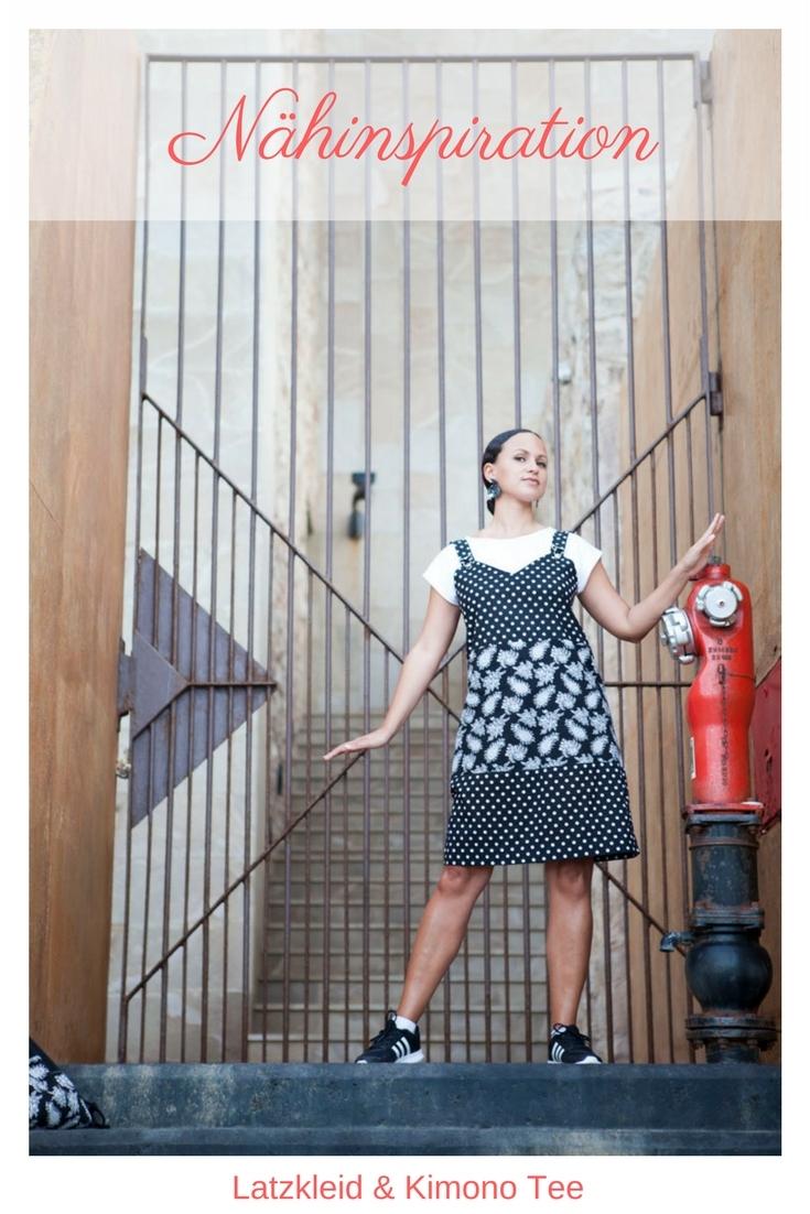 Nähinspiration DIY MODE Latzkleid und Kimono Tee