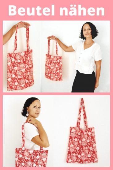 Beutel Einkaufsbeutel Tasche Einfache Nähideen Nähen für Anfänger Nähanfänger Ideen schnell leicht Schnittmuster Video Anfängerprojekte DIY MODE Kleidung Kleinigkeiten