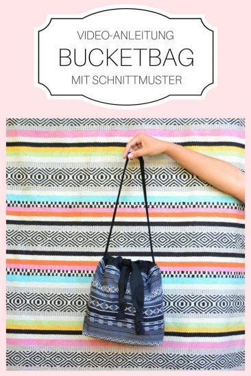 Bucketbag Handtasche Tasche Einfache Nähideen Nähen für Anfänger Nähanfänger Ideen schnell leicht Schnittmuster Video Anfängerprojekte DIY MODE Kleidung Kleinigkeiten