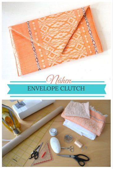 Clutch Envelope Einfache Nähideen Nähen für Anfänger Nähanfänger Ideen schnell leicht Schnittmuster Video Anfängerprojekte DIY MODE Kleidung Kleinigkeiten