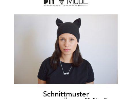 Katzenmütze nähen Schnittmuster Mütze mit Katzenohren Kawaii Pussyhat 1