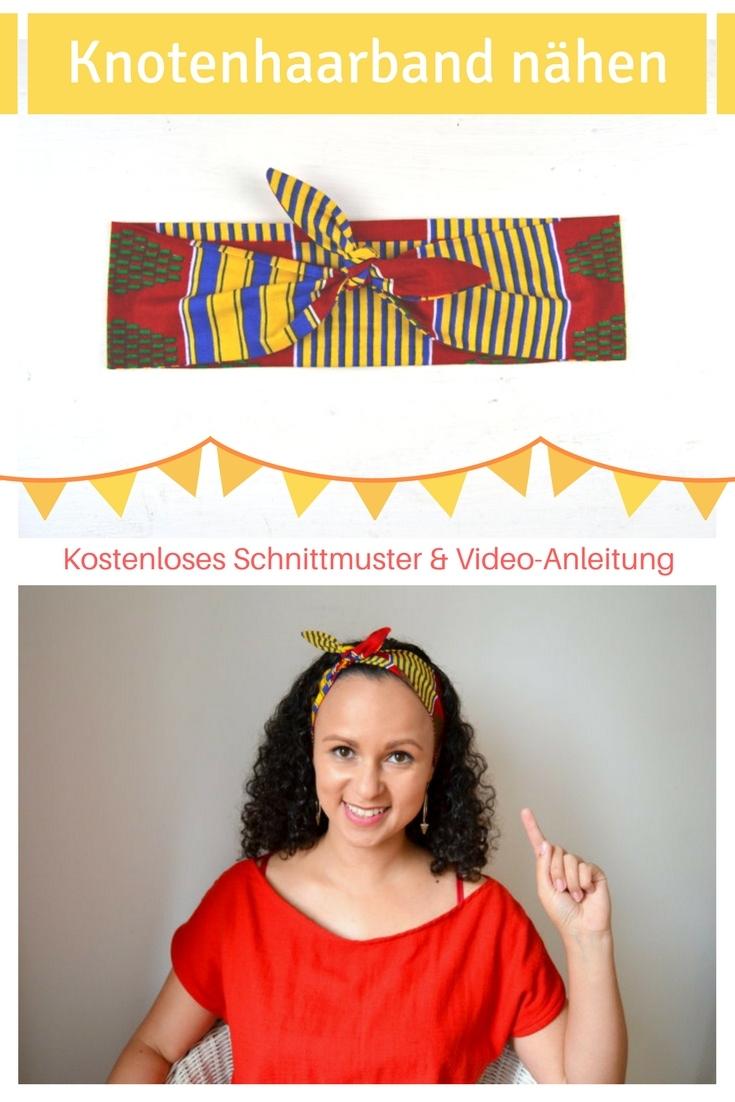 Knotenhaarband Haarband Einfache Nähideen Nähen für Anfänger Nähanfänger Ideen schnell leicht Schnittmuster Video Anfängerprojekte DIY MODE Kleidung Kleinigkeiten