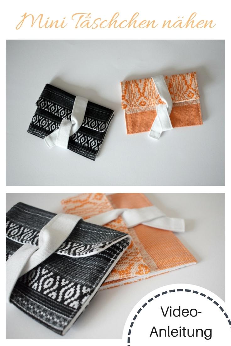 Mini-Täschen Einfache Nähideen Nähen für Anfänger Nähanfänger Ideen schnell leicht Schnittmuster Video Anfängerprojekte DIY MODE Kleidung Kleinigkeiten