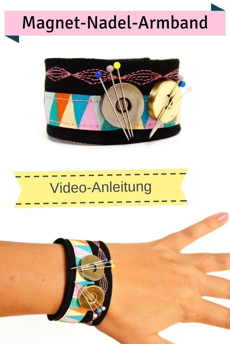 Nadelkissen Magnet Stecknadeln Einfache Nähideen Nähen für Anfänger Nähanfänger Ideen schnell leicht Schnittmuster Video Anfängerprojekte DIY MODE Kleidung Kleinigkeiten