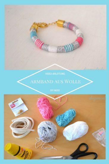 DIY Armband aus Wolle Freundschaftsarmband basteln selber machen Anleitung