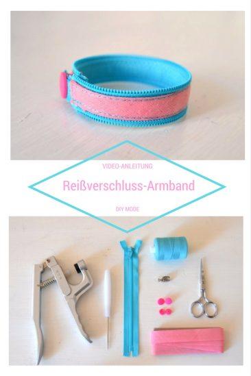 DIY Reißverschluss Armband selber machen freebie kostenlose Anleitung Idee nähen Nähanleitung Nähidee für Anfänger Nähanfänger Kleinigkeit Geschenk DIY MODE