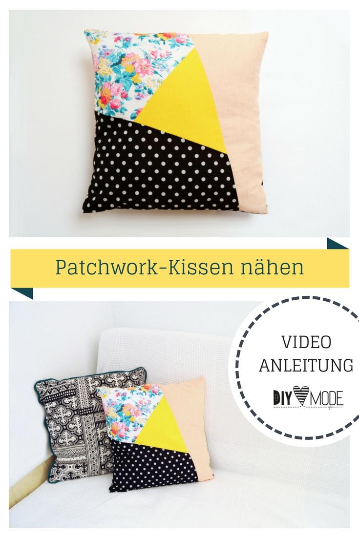 Diy Mode Asymmetrisches Patchwork Kissen Nähen