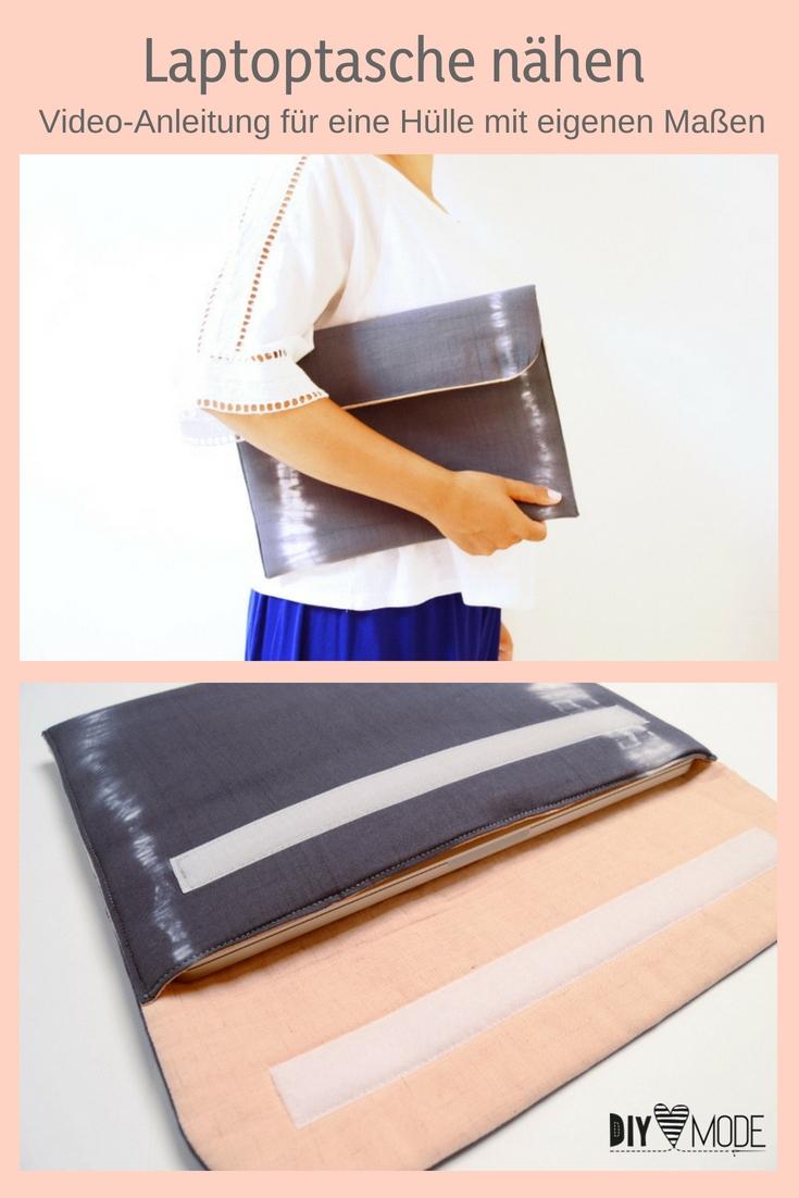 Laptoptasche mit eigenen Maßen selber machen freebie kostenlose Anleitung Idee nähen Nähanleitung Nähidee für Anfänger Nähanfänger Kleinigkeit Geschenk DIY MODE