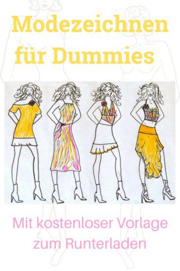 Modezeichnen für dummies einfach Vorlage Download runterladen gratis kostenlos einfach Anleitung
