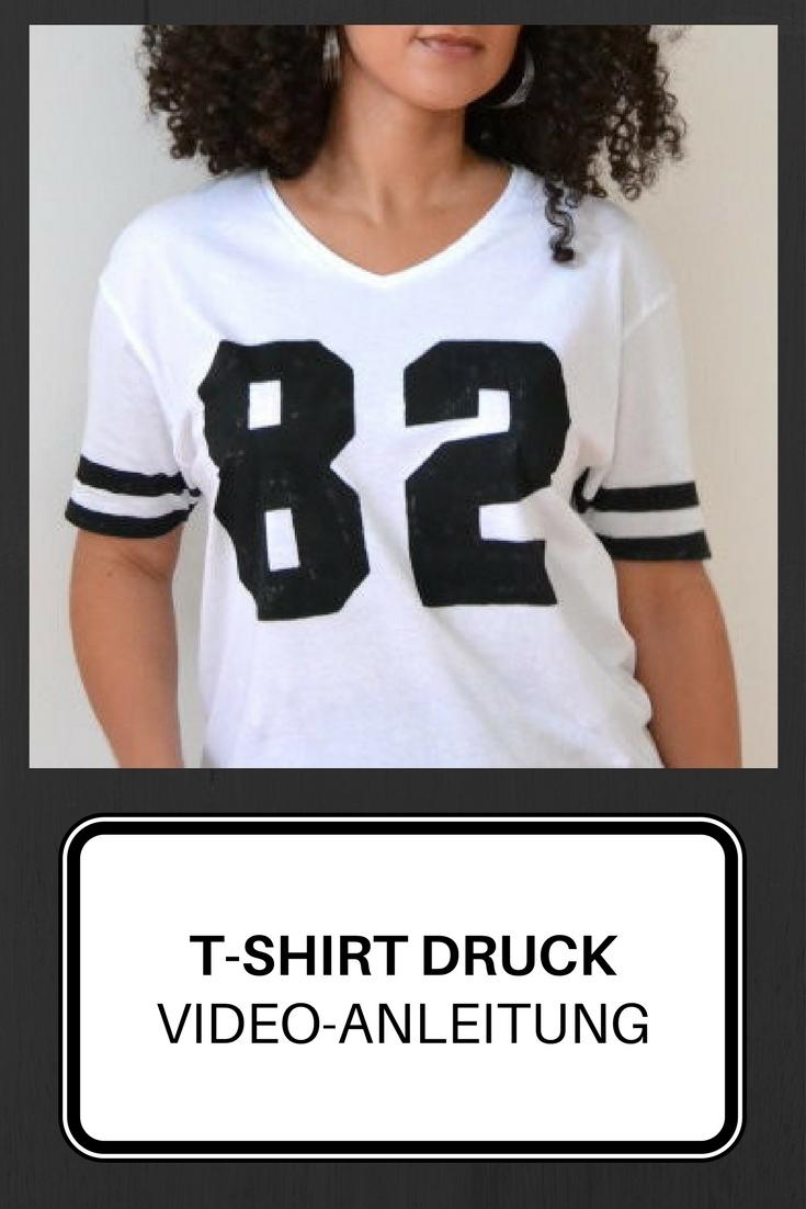 T-Shirt selbst bedrucken Anleitung