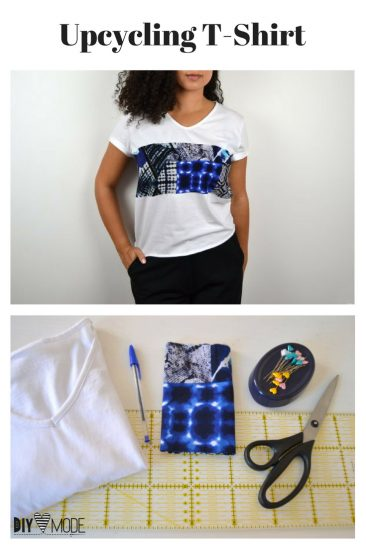 Upcycling T-Shirt Idee Nähidee Kleidung Refashion pimpen aufpeppen DIY MODE