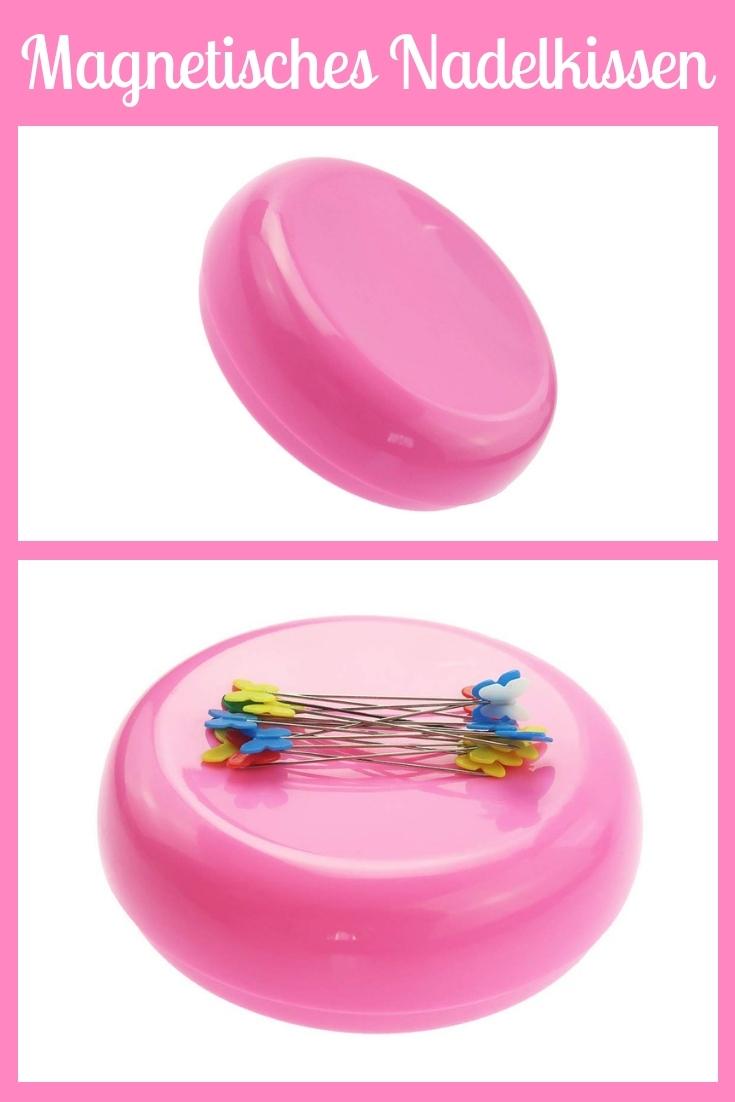 Magnetisches Nadelkissen rund magnet Stecknadeln rosa pink groß Nähhelfer Nähwerkzeug Geschenkidee Nähgeschenk Geschenk für Schneider nähen Nähanfänger Werkzeug Nähzimmer Nähgedgets Nähprodukte