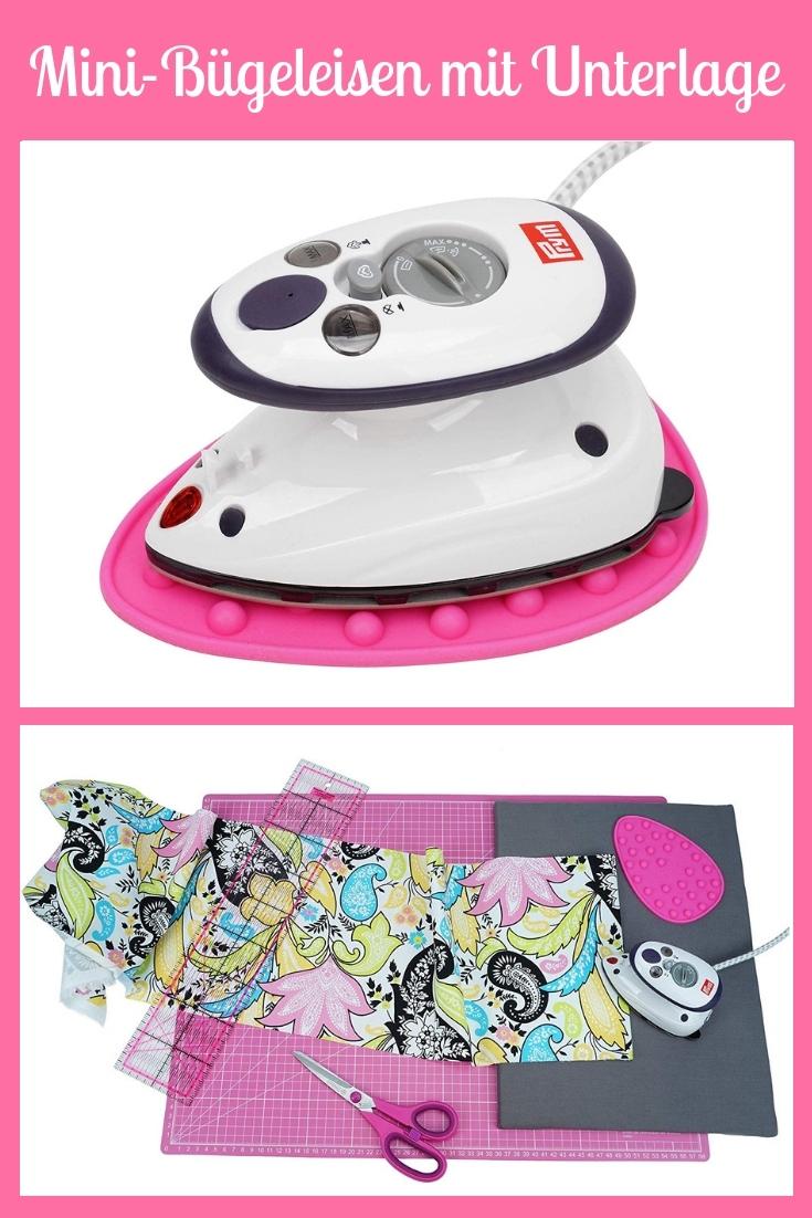 Mini Bügeleisen Prym Unterlage rosa pink groß Nähhelfer Nähwerkzeug Geschenkidee Nähgeschenk Geschenk für Schneider nähen Nähanfänger Werkzeug Nähzimmer Nähgedgets Nähprodukte