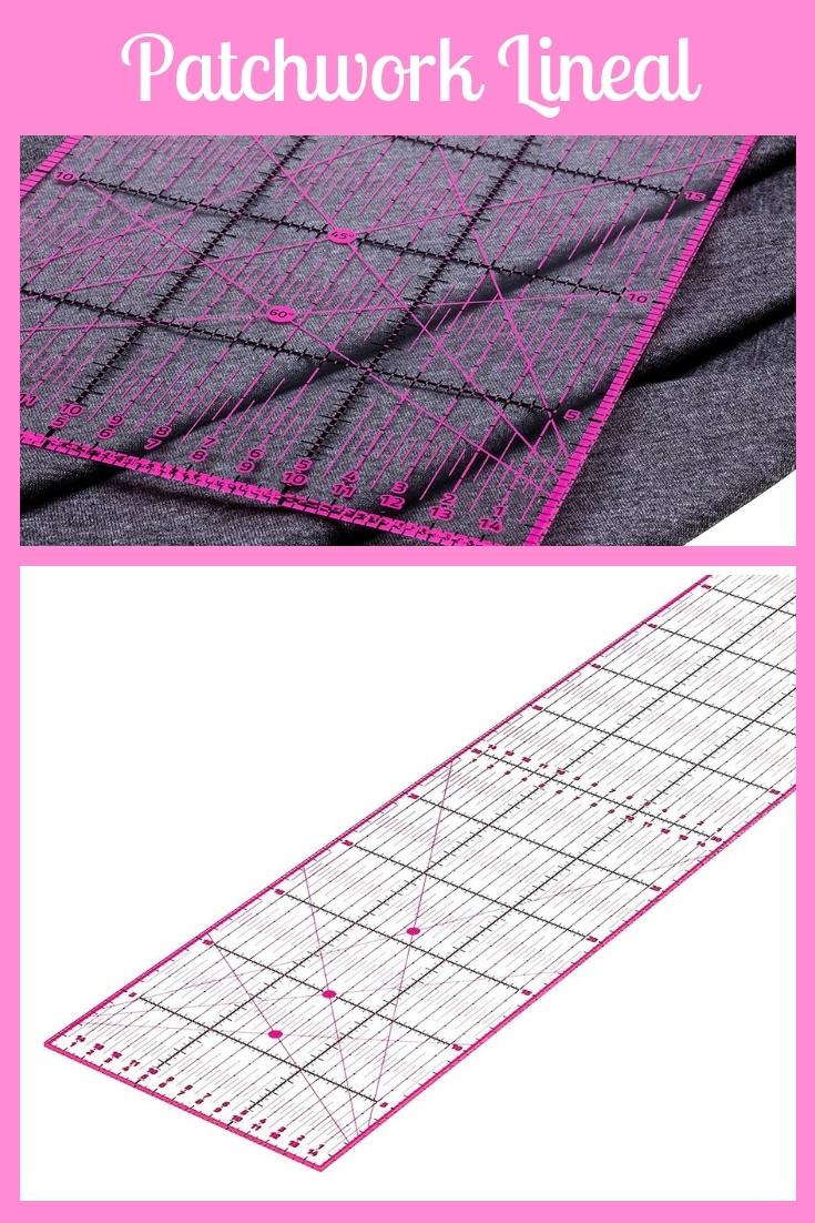 Patchwork Lineal 60x15 rosa pink groß Nähhelfer Nähwerkzeug Geschenkidee Nähgeschenk Geschenk für Schneider nähen Nähanfänger Werkzeug Nähzimmer Nähgedgets Nähprodukte