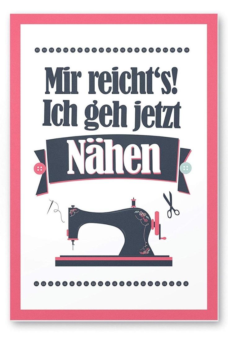 Poster Mir reichts ich geh jetzt nähen rosa pink groß Nähhelfer Nähwerkzeug Geschenkidee Nähgeschenk Geschenk für Schneider nähen Nähanfänger Werkzeug Nähzimmer Nähgedgets Nähprodukte
