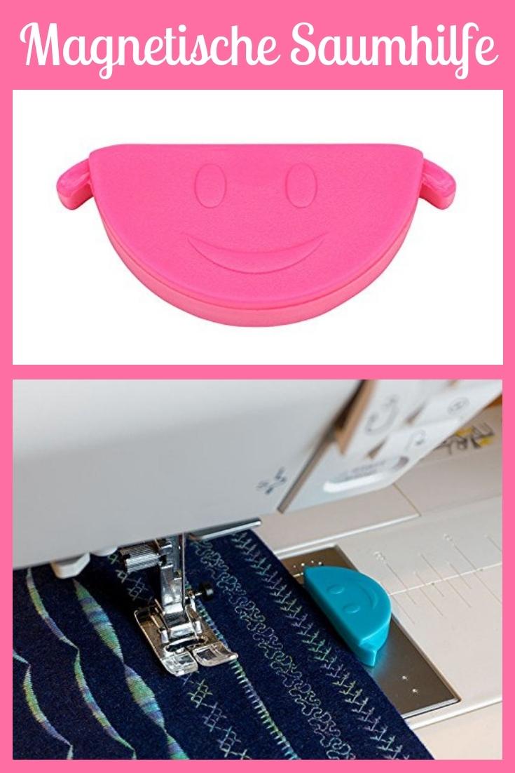 Saumhelfer magnetisch rosa pink groß Nähhelfer Nähwerkzeug Geschenkidee Nähgeschenk Geschenk für Schneider nähen Nähanfänger Werkzeug Nähzimmer Nähgedgets Nähprodukte