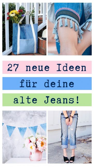 Upcycling Ideen Jeans Diy Mode